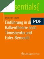 (Essentials) Christian Spura - Einführung in Die Balkentheorie Nach Timoshenko Und Euler-Bernoulli-Springer Fachmedien Wiesbaden_Springer Vieweg (2019)