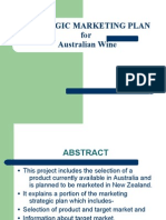 mkt strategic for aussi wines
