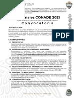 Convocatoria Nacionales Conade 2021 V2