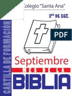 Mes de La Biblia 2021 - 2do de Sec.