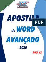 APOSTILA DE WORD AVANÇADO - (AULA 02) PDF