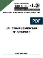 Lei Nº 002-2013 - Códigos de Obras e Edificações (1)