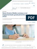Novo Ensino Médio Começa a Ser Implementado Gradualmente a Partir de 2022 — Português (Brasil)