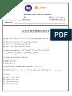 Lista-I-PRE-CALCULO--potenciacao-radiciacao-polinomios-fatoracao-2017.1_26-02-2017