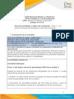 Guía de Actividades y Rúbrica de Evaluación - Unidad 1 - Fase 2 - La Acción Psicosocial Del Psicólogo en Contextos Educativos.