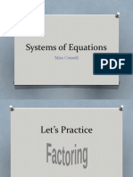 Systems of Equations - Review