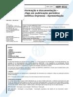 ABNT NBR 6022 Artigos Em Publicação Periódica
