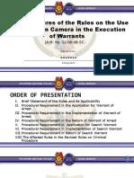 Use of Body Worn Cameras
