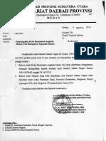 Surat tentang Penyampaian Kode Kecamatan Angkola Muara Tais Kabupaten Tapanuli Selatan