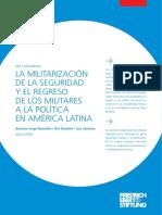 Ramalho, Diamint, and Sanchéz (2020). La militarización de la seguridad y el regreso de los militares a la política en América Latina