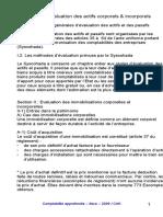 evaluation des actifs corporel et incorporel