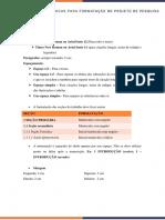 Dicas para formatação de projeto de pesquisa