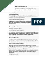 PNL AVALIAÇÃO – TÉCNICAS COMPORTAMENTAIS