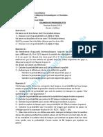 2016 Examen Et Solution Probabilité Juin 2016 (1).PDF · Version 1
