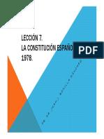 LECCION 7. LA CONSTITUCION ESPAÑOLA DE 1978.