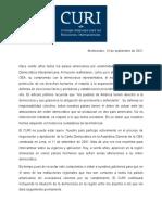 CURI-Comunicado Carta Democrática Interamericana