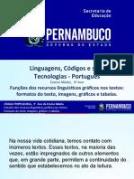 Funções Dos Recursos Linguísticos Gráficos Nos Textos Formatos Do Texto, Imagens, Gráficos e Tabelas.