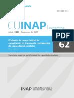 CUINAP 62 - Lemos, E. El diseño de una actividad de capacitación en línea con la construcción de capacidades estatales