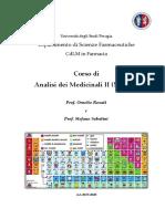 Analisi Dei Medicinali IV