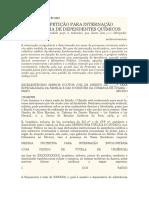 Pedido de internação p dependente químico