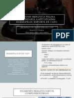 LIPIDOSIS HEPÁTICA FELINA secundaria a Mycoplasma haemofelis