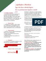 Legislação e Bioética - Normas Sobre Profissão Ligadas a Saúde