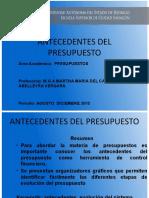 Antecedentes del Pesupuesto Martha _Abelleyra