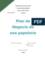 Plan de Negocio de Papeleria