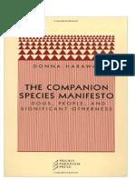 Manifesto das espécies companheiras - Donna Haraway