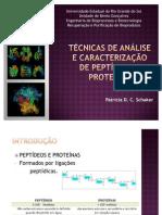 Técnicas de análise e caracterização de peptídeos