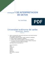 Tarea 1 Interpretacion de Datos