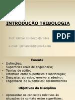 Aula 1,2 - Introducao Tribologia