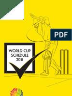 World Cup Cricket Schedule