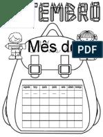 calendários do mês de setembro
