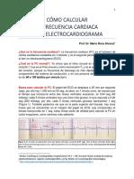 Como calcular Frecuencia Cardiaca en ECG