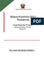 Balance Economico 2010 y Perspectivas - MEF