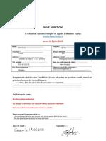 Formulaire Audition Cantates Buxtehude-Bach 2021
