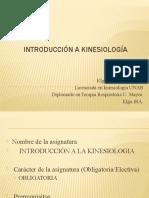 Presentacion del ramo Introducción a la Kinesiología