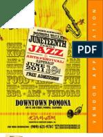 2011 Pomona Valley Family Juneteenth Celebration - Vendor Application