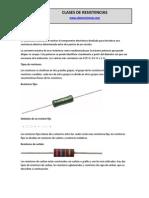CLASES DE RESISTENCIAS