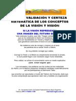 Validación Matemática de Misión-Visión