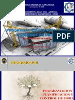 Tema 02 PLANIFICACION - PROGRAMACION  Y CONTROL DE OBRAS 2020