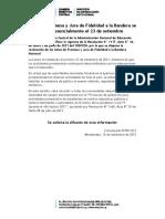 COMUNICADO N° 081-021 JURA DE LA BANDERA ACTO