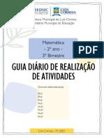 GUIA DIÁRIO MATEMÁTICA 2 ANO - 3BIM