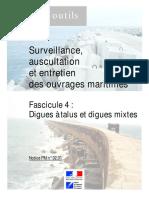 CETMEF - Surveillance Auscultation Entretien Fascicule 4  digues à talus et digues mixtes