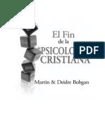 El Fin de La Psicología Cristiana.pdf Por Martin Bobgan