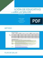 Socialización de educativo para la salud
