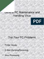 Study of PC Maintenance & Handling Virus