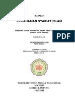Bab I Pola Pemahaman Penghayatan Dan Pengamalan Syariat Islam