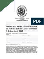 TSJ RECURSO DE CASACION (ADOLESCENTE DECLARO QUE ERA INOCENTE)
